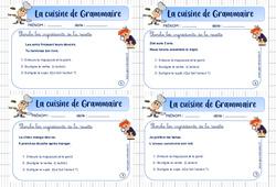 Cuisine de grammaire – Ce2 – Rituel de grammaire