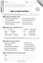 Aller et faire au futur – Ce2 – Evaluation – Bilan