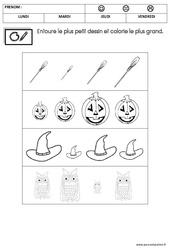 Mathématiques – Halloween – MS – Moyenne section