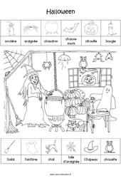 Scène et exploitation pédagogique d'Halloween - MS - Moyenne section