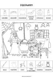 Scène et exploitation pédagogique d'Halloween - PS - Petite section