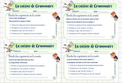 Cuisine de grammaire - Cm1 - Rituel de grammaire