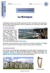 La Bretagne – Cm1 – Cm2 – Lecture compréhension – Documentaire