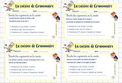 Cuisine de grammaire – Cm2 – Rituel de grammaire