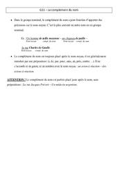 Complément du nom – Leçon – Cm1 – Grammaire – Cycle 3