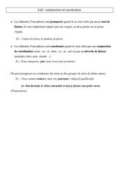 Juxtaposition et coordination - Leçon - Cm2 - Grammaire - Cycle 3