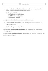 Conjonction – Leçon – Cm2 – Grammaire – Cycle 3