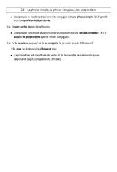 Phrase simple - Phrase complexe - Propositions - Leçon - Cm2 - Grammaire - Cycle 3