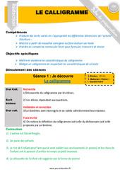 Calligramme – Cm1 – Cm2 – Rédaction – Textes poétiques – Fiche de préparation