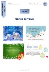 Cartes de vœux –  Cm1 – Lecture compréhension – Textes prescriptifs