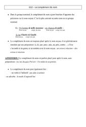 Complément du nom - Leçon - Cm2 - Grammaire - Cycle 3