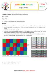 Multiplication avec le damier – Algèbre – Montessori – Atelier 1