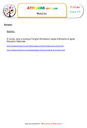 Petite division avec les éprouvettes – Algèbre – Liste des matériaux