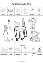 Scène et exploitation pédagogique de « La semaine du goût » – MS – Moyenne section