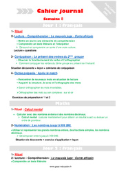 Semaine 8 - Cm1 - Cahier journal - PES - Stagiaires, jeunes profs...