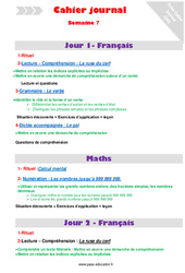 Semaine 7 – Cm2 – Cahier journal – PES – Stagiaires, jeunes profs…