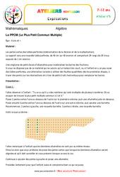 Le Plus Petit Commun Multiple – Algèbre – Montessori – Atelier 6