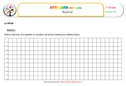 Le Plus Petit Commun Multiple – Algèbre – Montessori – Liste des matériaux