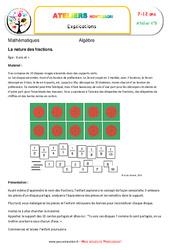 La nature des fractions – Algèbre – Montessori – Atelier 8