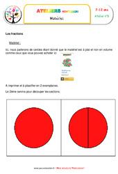 La nature des fractions – Algèbre – Montessori – Liste des matériaux