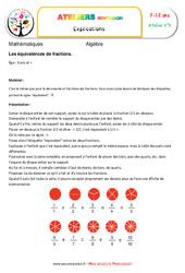Les équivalences de fractions – Algèbre – Montessori – Atelier 9
