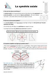 Symétrie axiale – CM1 – Leçon