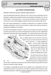 La rivière enchanteresse – Cm1 – Cm2 – Lecture compréhension – Contes des origines – Questionnaire
