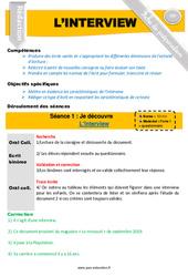 L'interview – CM1 – CM2 – Rédaction – Production d'écrit – Fiche de préparation