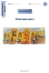 C'est mon avis! – CM1 – Lecture – Bande dessinée