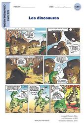 Les dinosaures – CM1 – Bande dessinée – Lecture