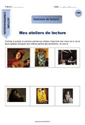 Mes ateliers de lecture - CM2 - Gamme de lecture