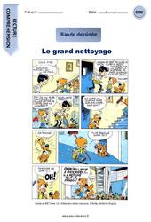 Le grand nettoyage – CM2 – Bande dessinée