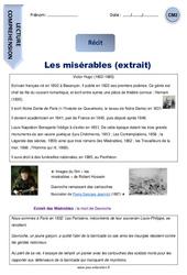 Les misérables (extrait) – CM2 – Récit – Lecture