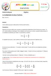 La multiplication de deux fractions – Algèbre – Montessori – Atelier 14