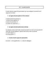 Ponctuation - Ce2 - Leçon