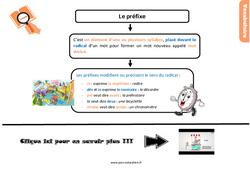 Leçon, trace écrite sur les préfixes au Cm1