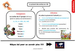 Leçon, trace écrite sur le présent des verbes en -er au Cm2