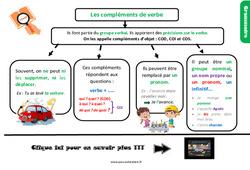 Leçon, trace écrite sur le complément du verbe au Cm2