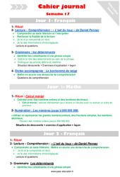 Semaine 17 - Cm1 - Cahier journal - PES - Stagiaires, jeunes profs...