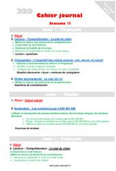 Semaine 18 - Cm1 - Cahier journal - PES - Stagiaires, jeunes profs...