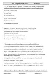 Compléments du nom – Ce2 – Exercices