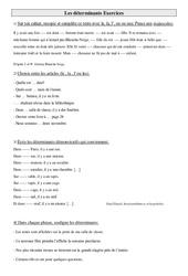 Déterminants - Ce2 - Exercices à imprimer