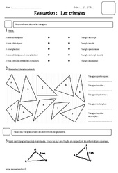 Triangles – Cm2 – Evaluation