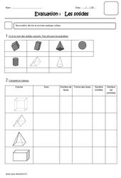 Solides – Cm2 – Evaluation