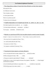Formes de phrases – Ce2 – Exercices