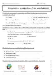 Suggestion et impératif – 5ème – Exercices – Anglais