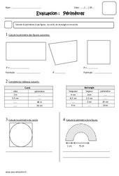 Périmètre – Cm2 – Evaluation