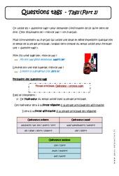 Questions tags - 5ème - Cours - Anglais