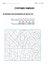 Dénombrer des constellations de dés de 4 à 8 – Cp – Coloriage magique à imprimer