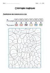 Additionner des nombres de 0 à 69 – Cp – Ce1 – Coloriage magique à imprimer